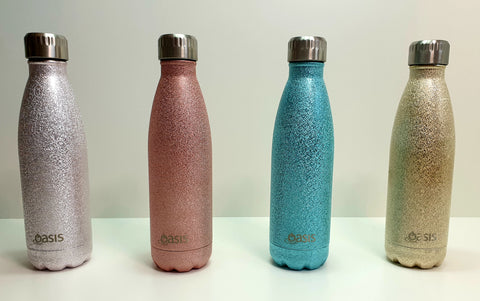OASIS 500ml Stainless Steel Double Insulated Water Bottle SHIMMER Range