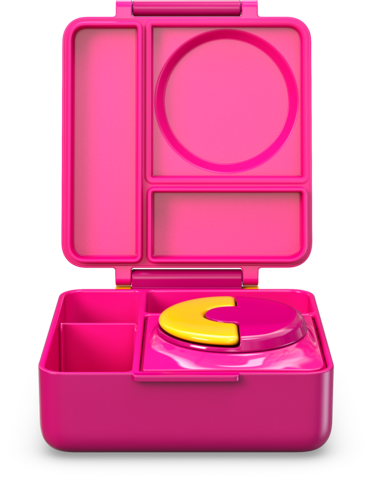 OmieBox - Hot and Cold Bento Box - Pink Berry
