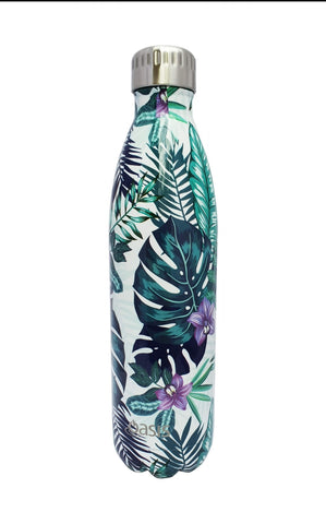 OASIS 500ml Stainless Steel Double Insulated Water Bottle Quirky PRINTS