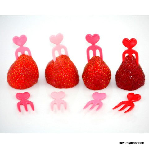 Heart Food forks - Love My Lunchbox