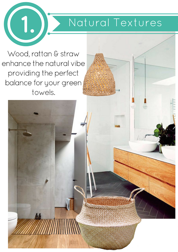 Natural textures compliment The Webster Bath Towel