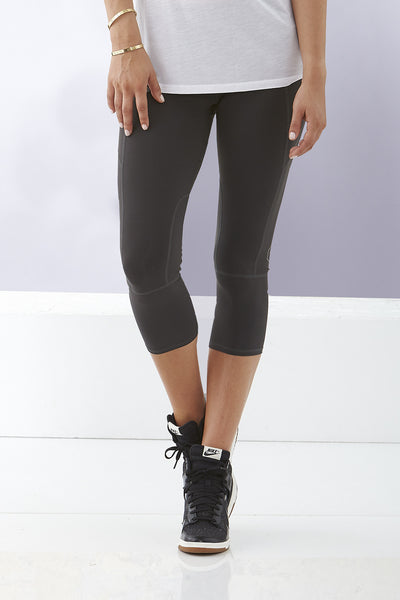 Solid 3/4 Cropped Compression Tights
