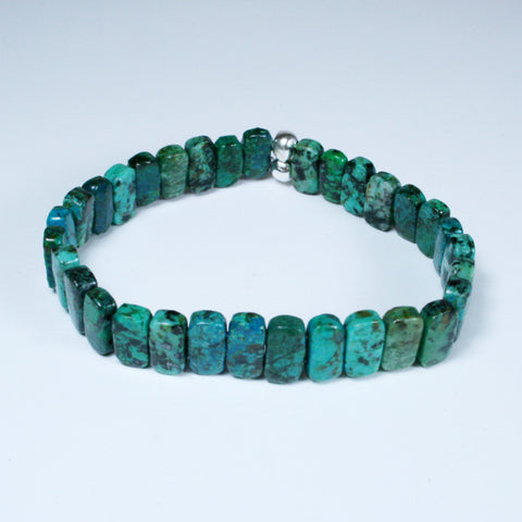 African Turquoise Jasper Stretch Bracelet