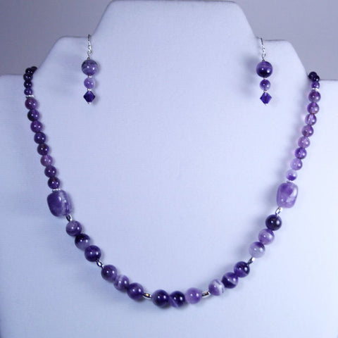 Amethyst Angle 2 Piece Jewelry Set