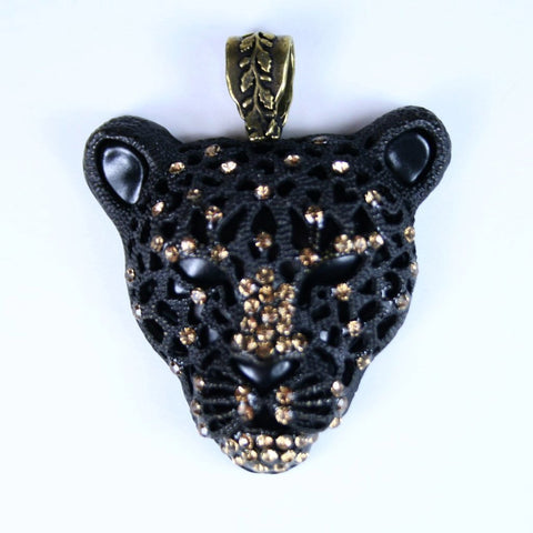 Black Panther Pendant Head Alone