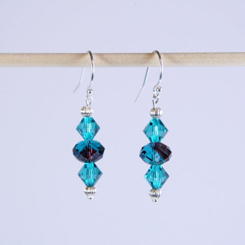 Swarovski Crystal Caribbean Blue Earrings
