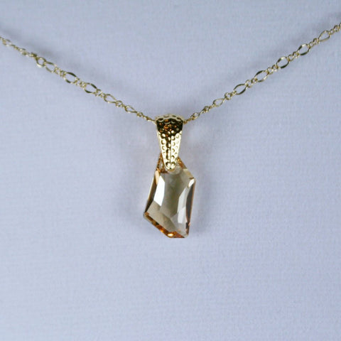 De-Art Crystal Golden Shadow Pendant