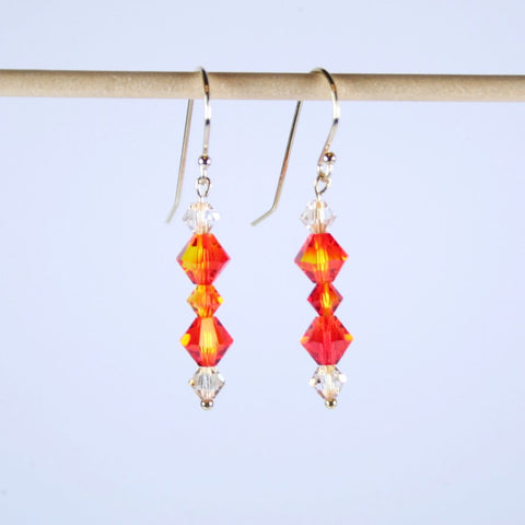 Fire Opal Hook Earrings