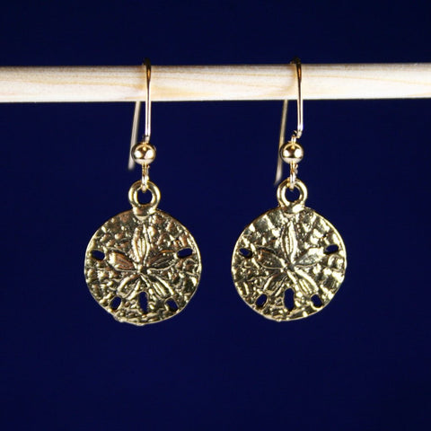 Antique Gold Sand Dollar Earrings