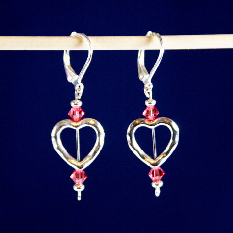 Sweet Heart Peach Leverback Earring