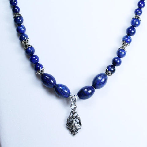 Lapis Lady Antique Silver Necklace