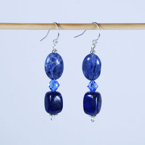 Mixed Up Sodalite Lapis Earring