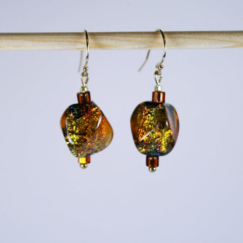Amber Rdake 13mm Earrings