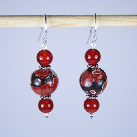 Red Earth Magnesite Earrings