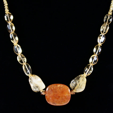 Rise & Shine Quartz & Citrine Necklace