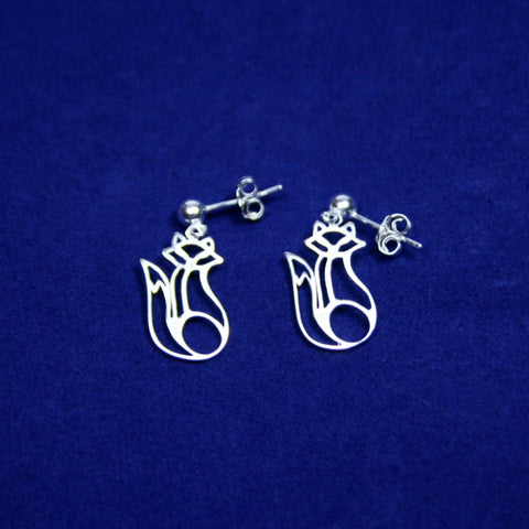 Sterling Silver Foxy Lady Post Earrings