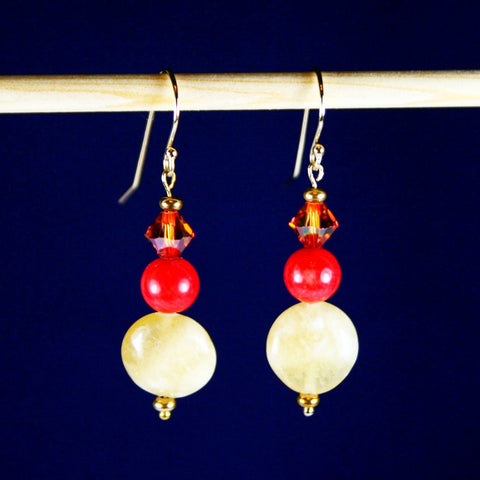 Sunnyside Coral Earrings
