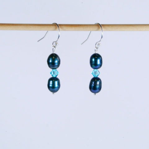Tahitian Blue Pearl Earrings