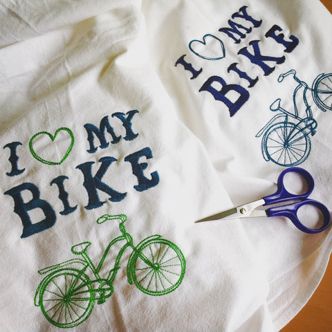 'I Love My Bike' Flour Sack Towel