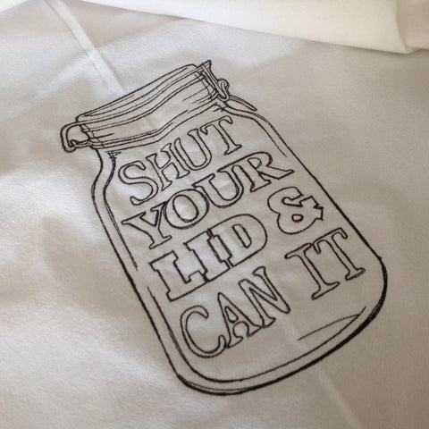 'Shut Your Lid' Flour Sack Towel