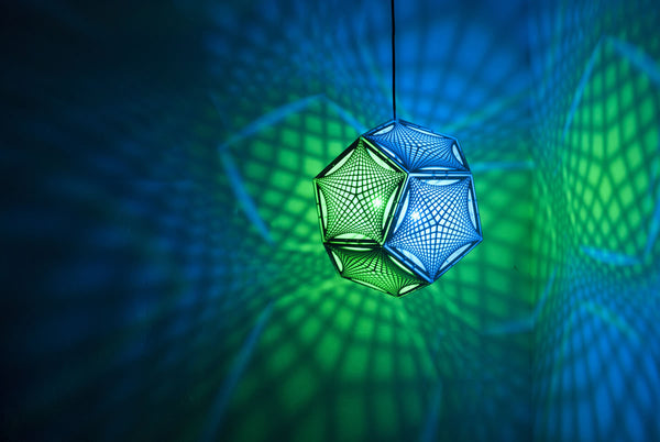 Asking the Right Questions - Dodecahedron Pendant Lantern