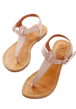 Isle of Mine- Cheyenne T sandal- Blush 50% off