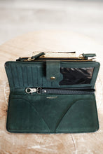 Load image into Gallery viewer, Jerome Dreyfuss Green Distressed Leather Wallet