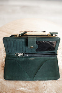 Jerome Dreyfuss Green Distressed Leather Wallet