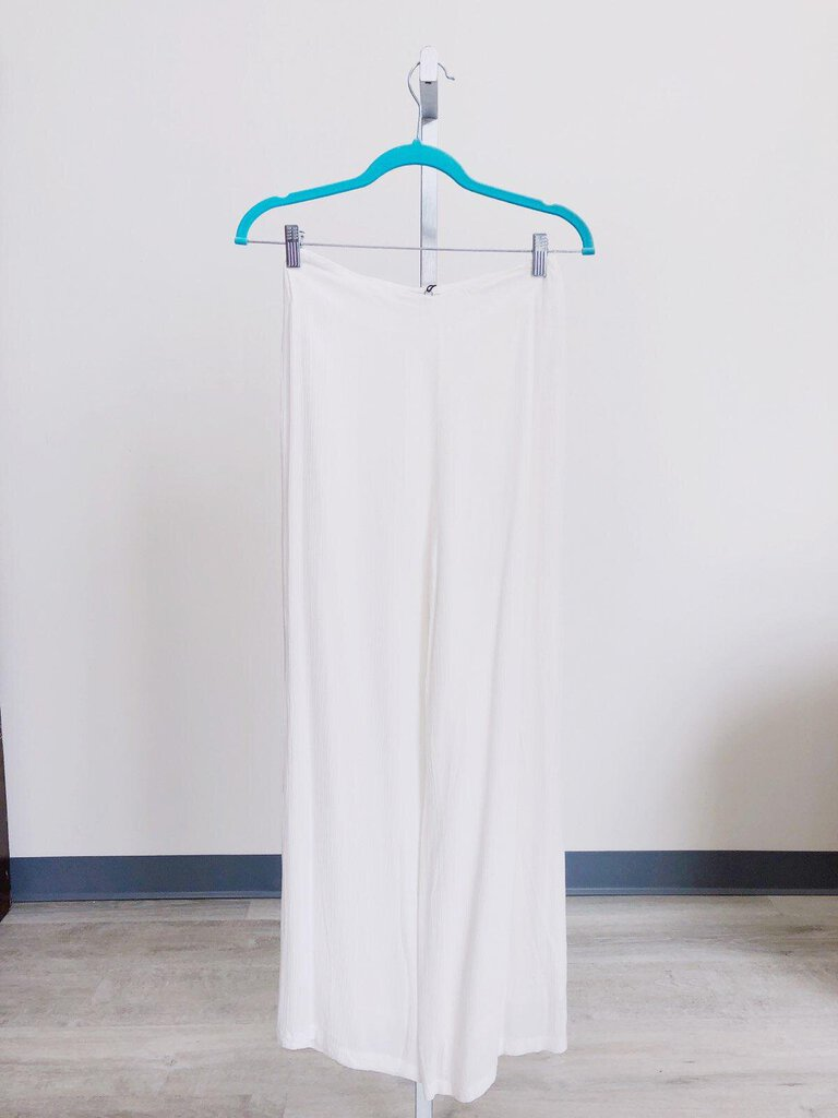 Olivaceous White High Rise  Pants