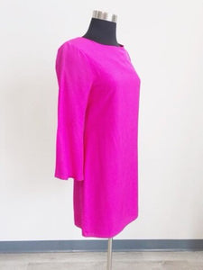 Julie Brown Hot Pink Bell Sleeve Dress SIZE 2