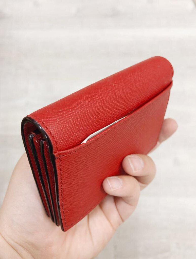 Kate Spade Red Leather Card Holder