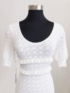 Ronny Kobo White Colby Dress