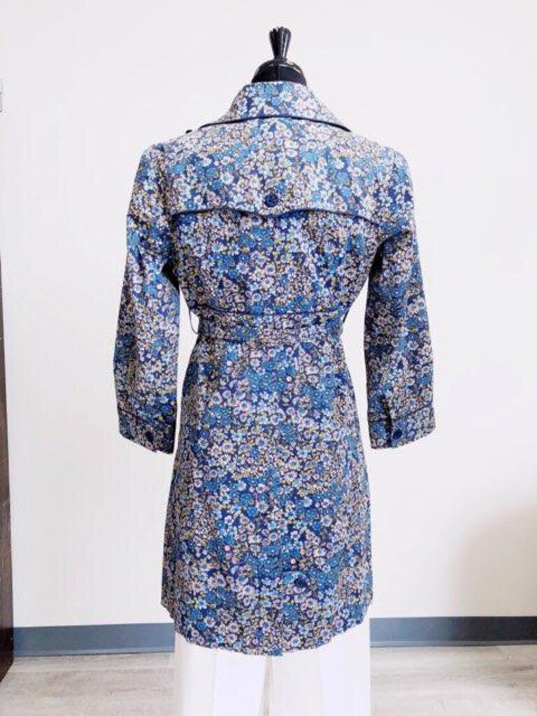 Elevenses Floral Print Trench SIZE 6