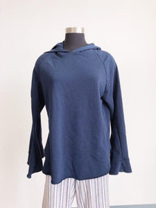 Jamison Navy Bell Sleeve Hooded Sweatshirt SIZE L