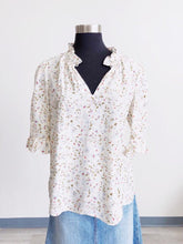 Load image into Gallery viewer, Rebecca Taylor Vivianna Elbow Length Sleeve Floral Print Silk Top SIZE 10