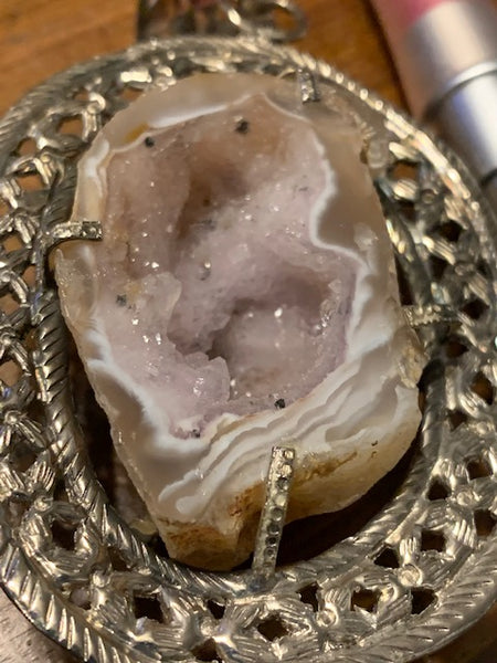 Mind Stalkers and the NWO-- Geode Necklace
