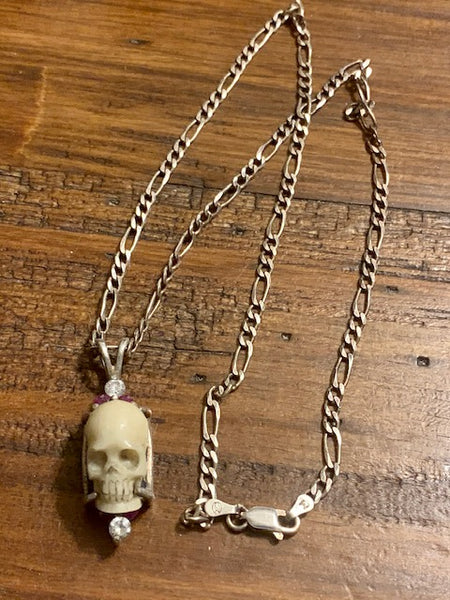 Of Hellfire and Holyfire-- An Original Artifact from the Hellfire Club Lodge in Ireland, Made of Real Bone Sterling Silver