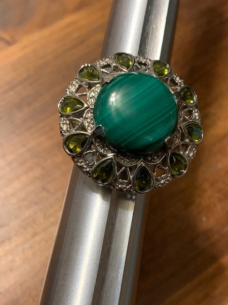 Costume Ring with Greeen Stones:  Drakospita, House of the Dragon