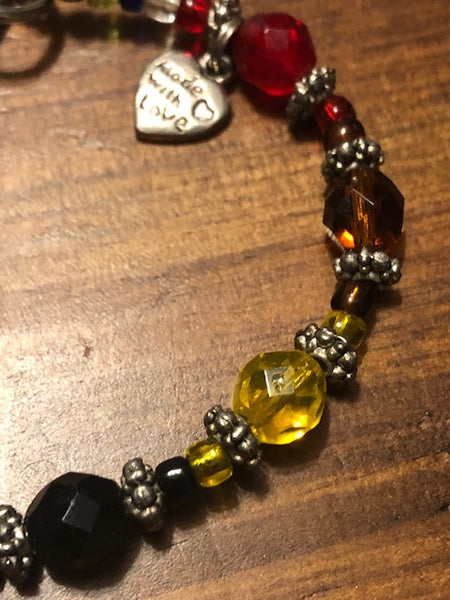 Multi-Colored Crystal Bracelet, Made With Love