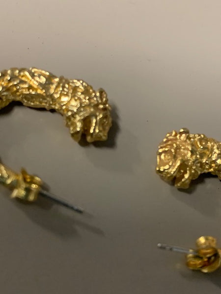 Golden Costume Chimera Earrings: Two Chimeras, One Price