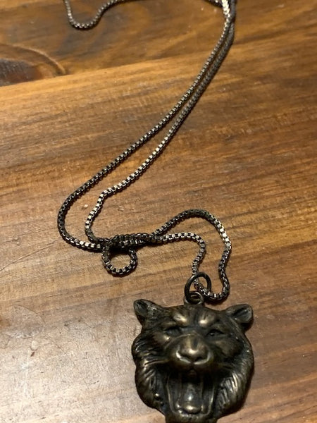 Costume Necklace w/a Lion Head:  Soft Kitty, Vamp Kitty, Purr, Purr, Purr