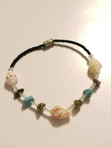 Costume Bracelet With Shells:  Three Mermaids of Beauty, Psychic Powers, and Abundance in All Things