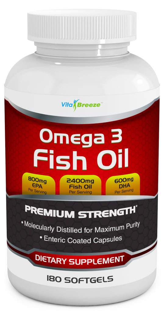 VitaBreeze Triple Strength Omega 3 Fish Oil