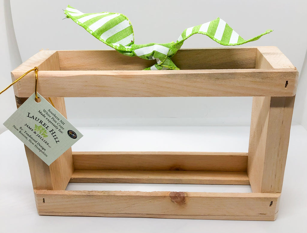 Individual 8 oz. Wine & Spirited Jelly Trio Crate - Crate Only!