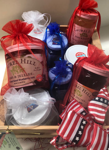 Patriotic Crate Sampler of Red, White, & Blue Wine Jellies