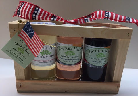 Red, White & Blue Trio of Wine Jellies - Large