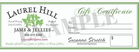 Gourmet Jam and Jelly Gift Certificate - $10