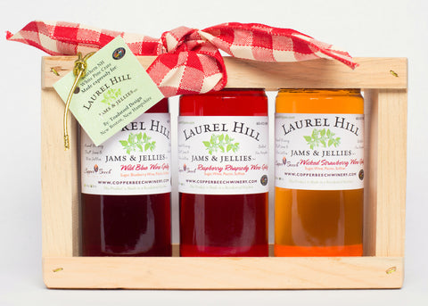 Local Fruit Wine Jellies - Gift Sampler Crate