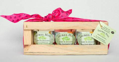 Romantic Wine Jellies - Small Gift Sampler Crate