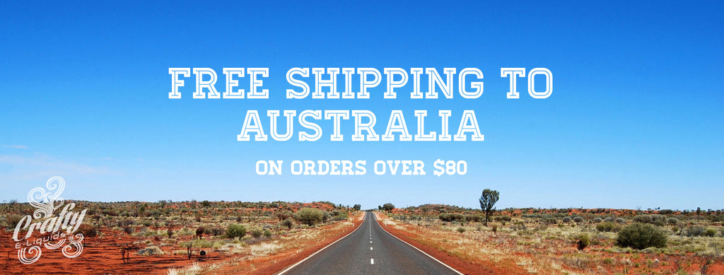 Crafty e-liquids free shipping to australia